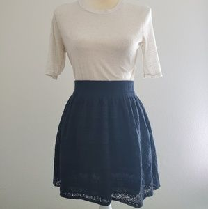 H&M mini lace skirt